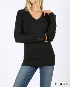 Classic V Neck Sweater | 3 Color Options