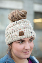 Load image into Gallery viewer, CC Ponytail Beanie | Confetti and Regular (Various Colors)