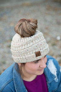 CC Ponytail Beanie | Confetti and Regular (Various Colors)