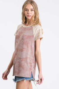 Dusty Pink Camo Top