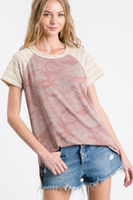 Load image into Gallery viewer, Dusty Pink Camo Top