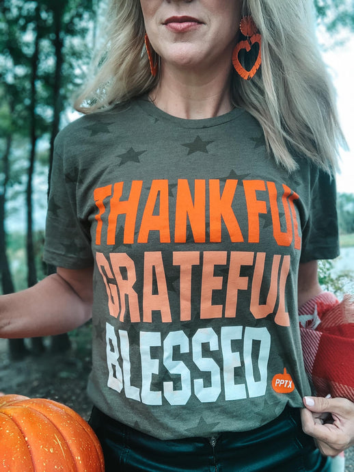 Thankful. Grateful. Blessed Tee