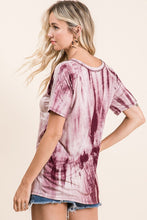 Load image into Gallery viewer, Burgundy Tie-Dye Top