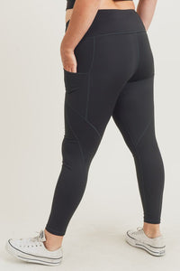 Mono B Solid Leggings | Curvy