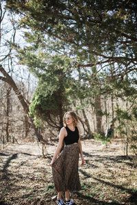 Pleated Leopard Skirt