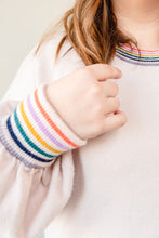 Load image into Gallery viewer, Rainbow Trim Sweater | Curvy