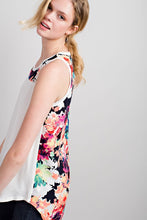 Load image into Gallery viewer, Floral Back Sleeveless Top