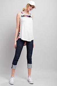 Floral Back Sleeveless Top