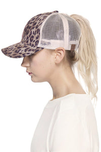 CC Ponytail- Messy Bun Baseball Hat