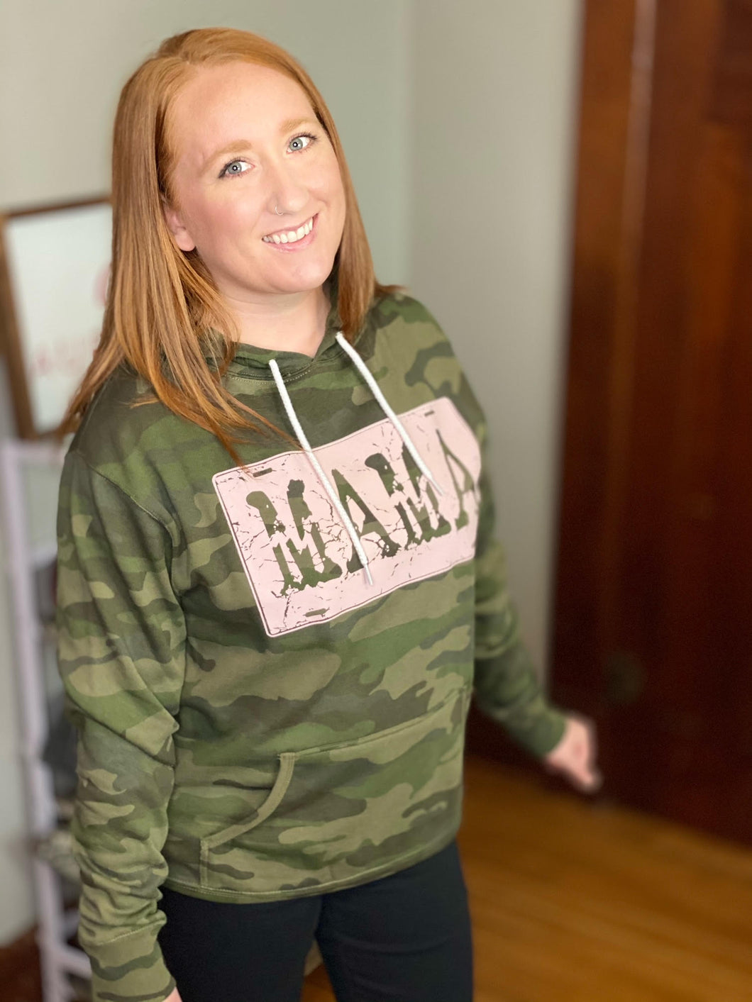 Camouflage Mama Hooded Sweatshirt