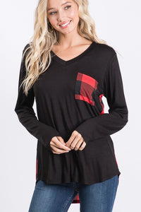 Buffalo Plaid Long Sleeve Tunic | S-3X
