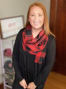 Buffalo Plaid Pocket Scarf