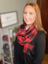 Load image into Gallery viewer, Buffalo Plaid Pocket Scarf