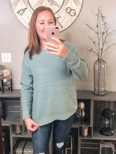 Load image into Gallery viewer, Round Neck Waffle Sweater | 2 color options