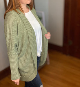 Waffle Knit Cardigan | 2 color options