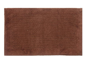 "TrendSetter Homez Cyber Monday MEGA Sales Dakar Stripe Extra Large Elite Single Bath Rug 100% Cotton Hand Tufted Heavy Bathmat Size 24"" x 60"" Machine Washable Bathroom Rug (Chocolate)"