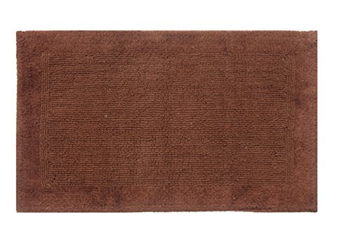 TrendSetter Homez Cyber Monday MEGA Sales Dakar Stripe Extra Large Elite Single Bath Rug 100% Cotton Hand Tufted Heavy Bathmat Size 24