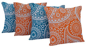 "Queenzliving Ultra Luxury Cotton Throw Pillow Cushion Covers 18"" x 18"" - NO FILLERS - Set of 4 in 2 Colors"