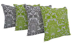 "Queenzliving Ultra Luxury Cotton Throw Pillow Cushion Covers 18"" x 18"" - NO FILLERS - Set of 4 in 2 Colors (Amsterdam Design)"