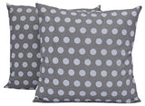"Queenzliving Ultra Luxury Cotton Throw Pillow Cushion Covers 18"" x 18"" - NO FILLERS - Polka - Set of 4 in 2 Colors"