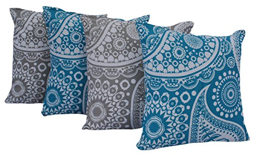 Queenzliving Ultra Luxury Cotton Throw Pillow Cushion Covers 18
