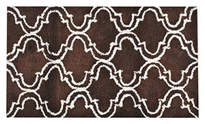 "Queenzliving Bath Rugs - 100% Cotton 24"" x 40"" Trellis Design Extra Large Bathmat"