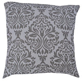 "Queenzliving Ultra Luxury Cotton Throw Pillow Cushion Covers 18"" x 18"" - Damask Design - Set of 4 in 2 Colors"