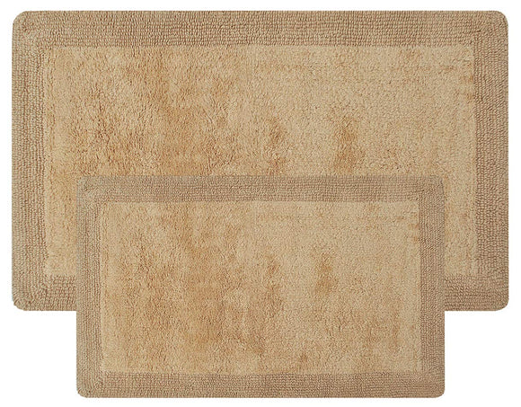Super Soft Set of 2 Reversible Bath Rugs - 100% Cotton 21
