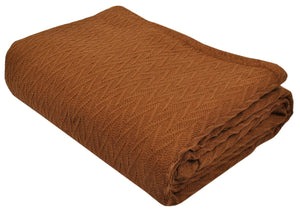 Ultra Cozy Light Weight Breathable Woven Cotton Thermal Blanket
