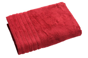 TrendSetter Homez MEGA Sales Siena (Pack of 2) Plush Bath Towels - 30 by 56 Inches (Bath Sheet) Red Color Made from Zero Twist Cotton for Extra Comfort (Bath Sheet, Red)
