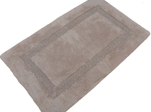 "Set of 2 Bath Rugs - 100% Cotton 21""x34"" Neo Arena Large Bathmat - By Trendsetter Homez (Tan)"