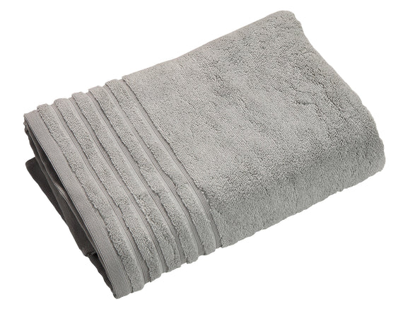 TrendSetter Homez MEGA Sales Siena (Pack of 2) Plush Bath Towels - 30 by 56 Inches (Bath Sheet) Silver Color Made from Zero Twist Cotton for Extra Comfort (Bath Sheet, Silver)