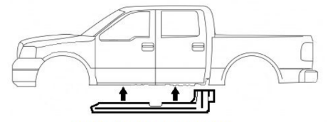 2004-2008 F-150 Crew Cab, Slip On Rocker Panel + Cab Corner Cover
