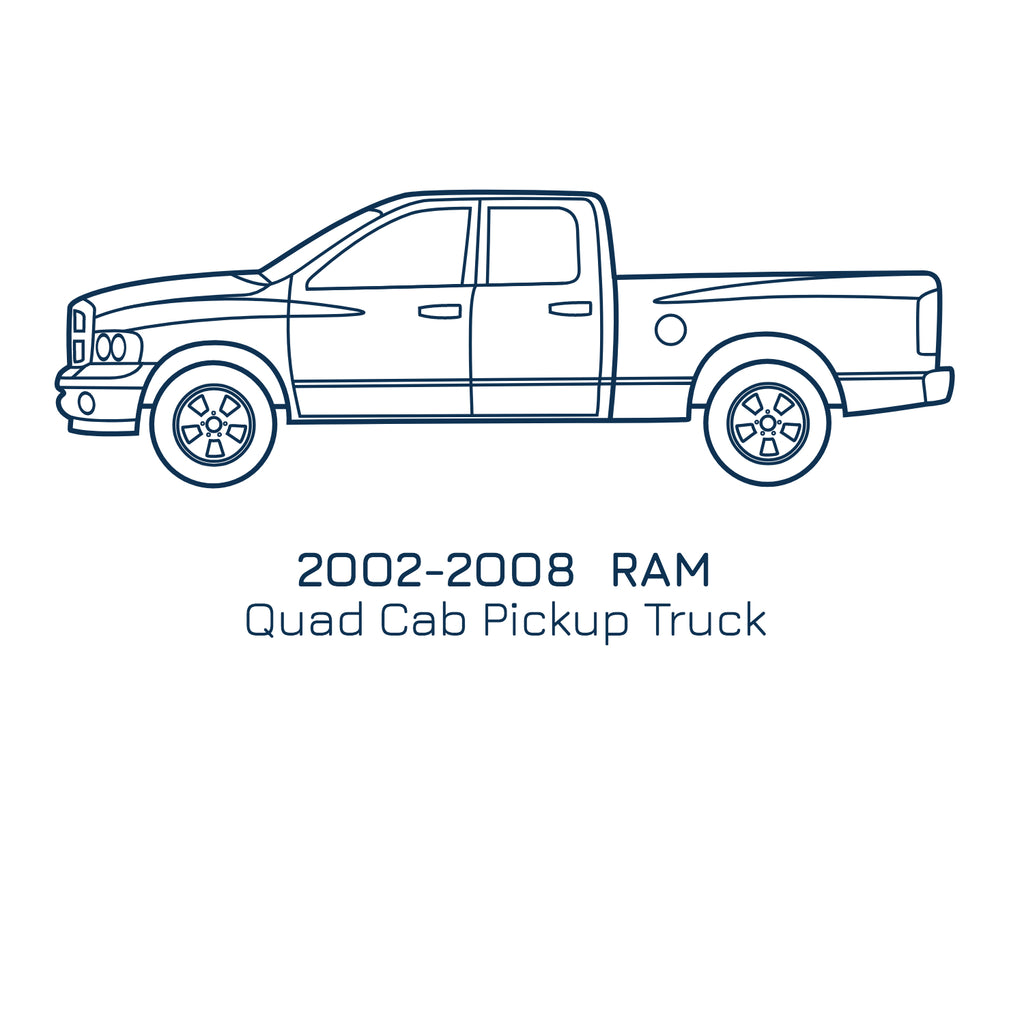 2002-2008 Ram Quad Cab, Slip On Rocker Panel + Cab Corner Cover