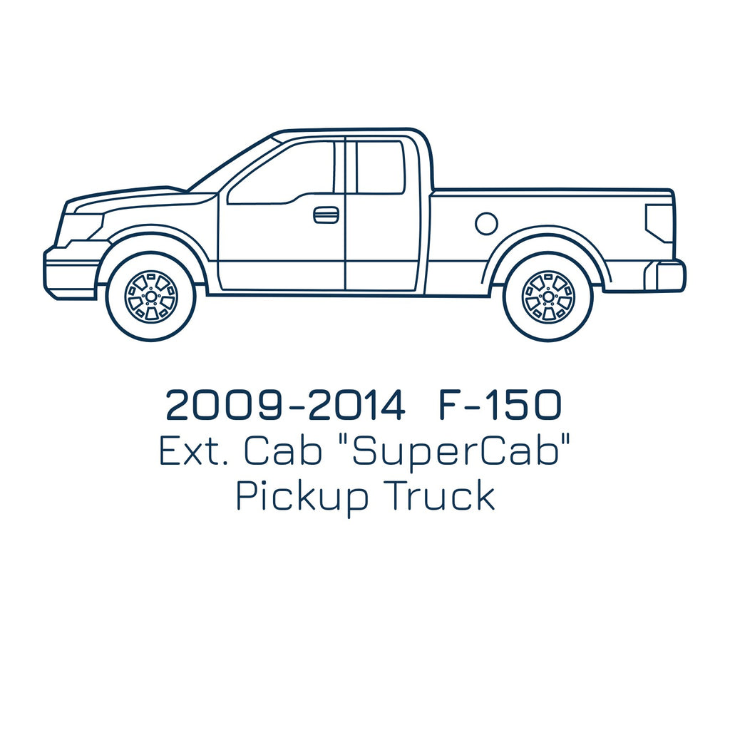 2009-2014 F-150 SuperCab Cab, Slip On Rocker Panel + Cab Corner Cover