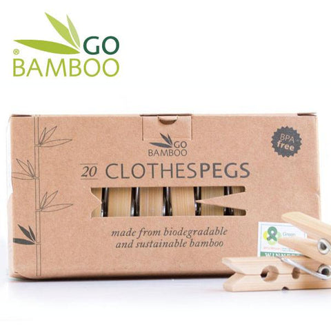 Bamboo Clothes Pegs - Biodegradable
