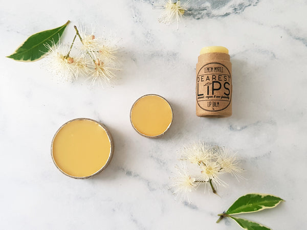 Organic Lip Balm - Lemon Myrtle & Lime