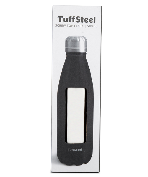 Insulated Stainless Steel Drink Bottle - Brushed Steel