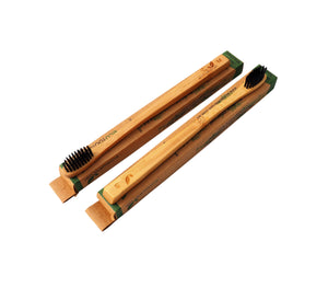 Charcoal & Bamboo Toothbrush   - Biodegradable