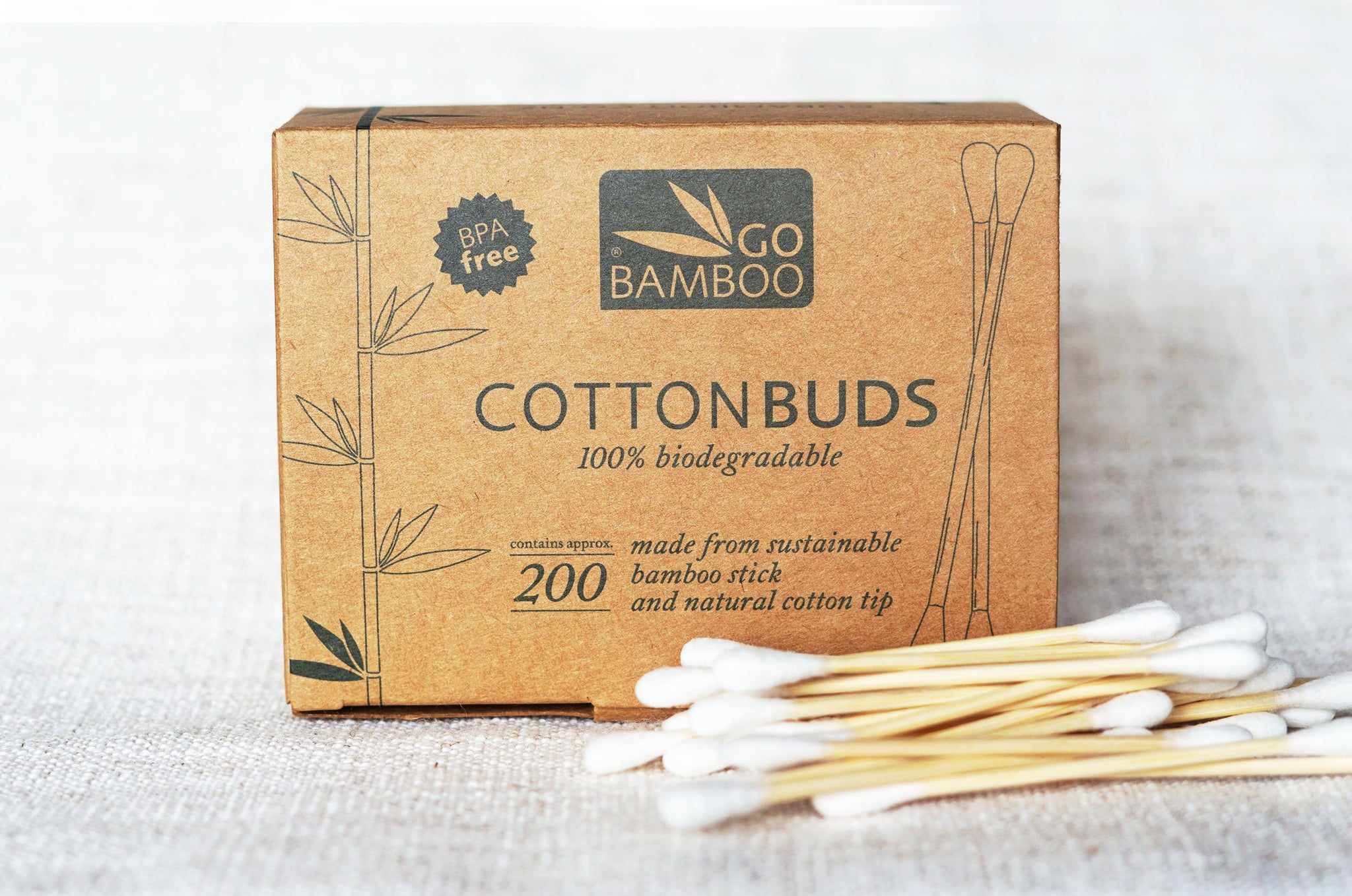 Bamboo Cotton Buds - Biodegradable