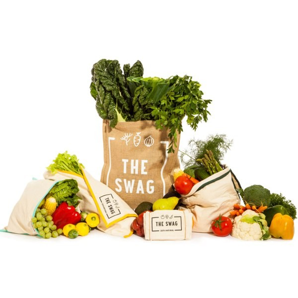 The Swag Produce Bags - Refrigerator Storage Bags 4 PACK SET