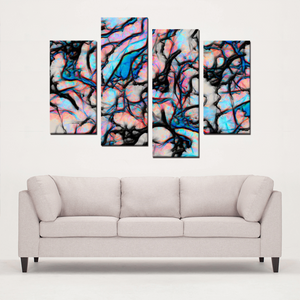 Simpatico - 4 Panel Canvas Art