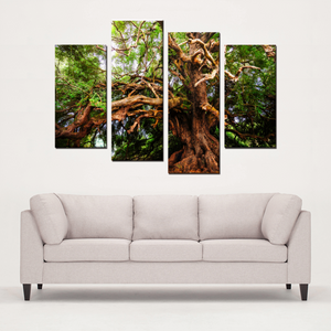 The Tree - 4 Panel Canvas Art