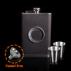 Image of Classy Flask With Built-In Shot Glass