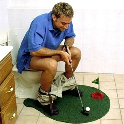 Potty Putter Toilet Golf Game