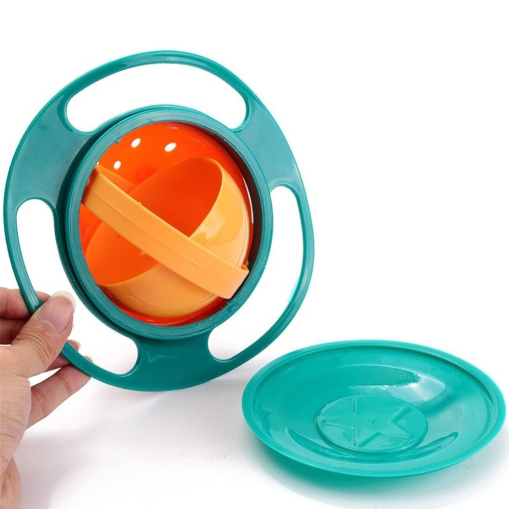 Gyroscope Spill-Proof Baby Bowl