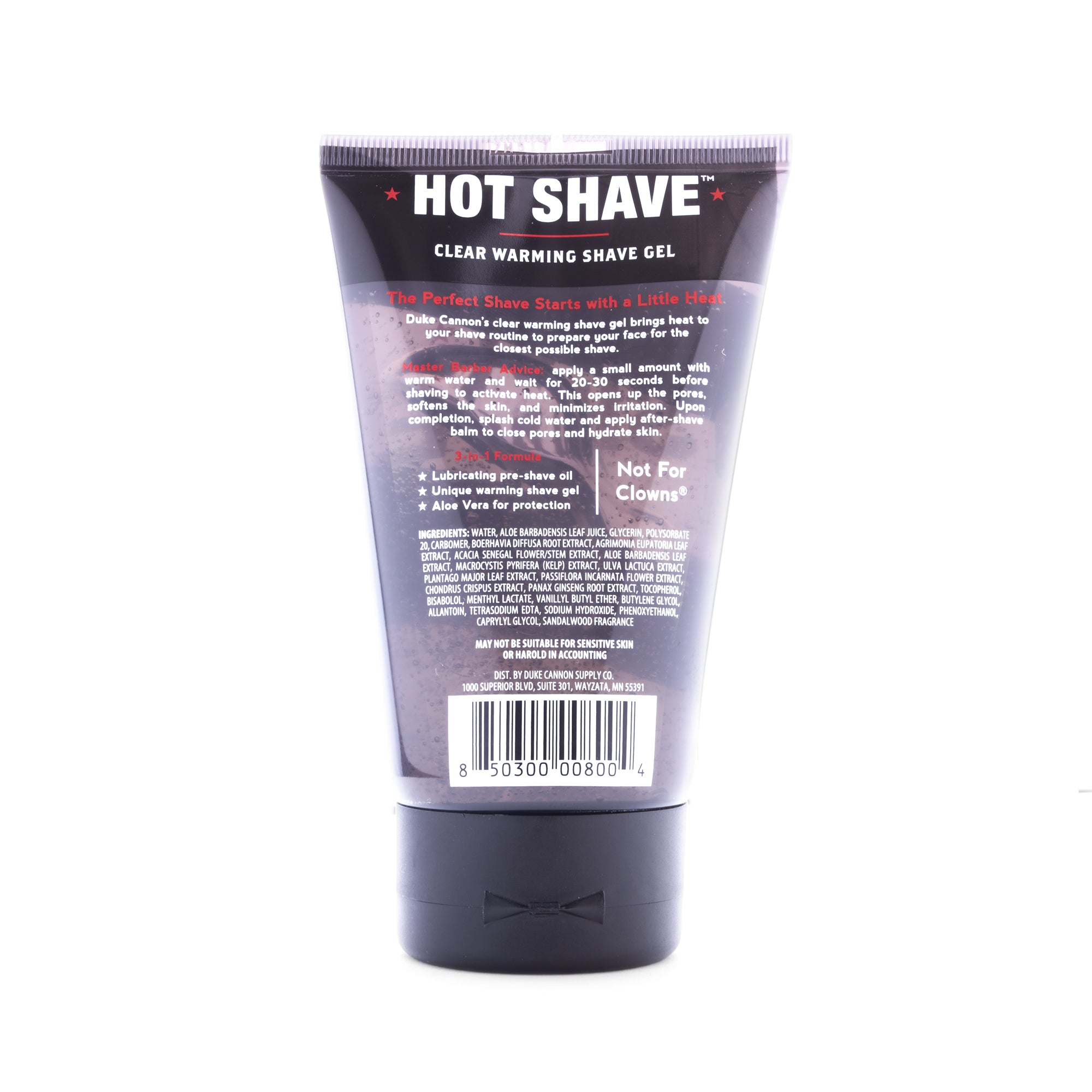 Hot Shave Clear Warming Shave Gel - Duke Cannon