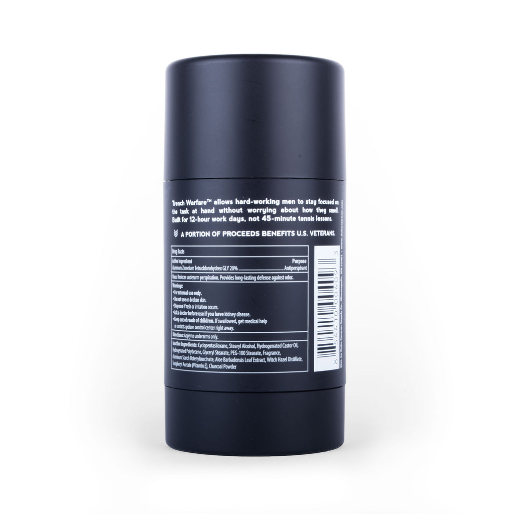 Trench Warfare Antiperspirant + Deodorant (Bergamot & Black Pepper) - Duke Cannon
