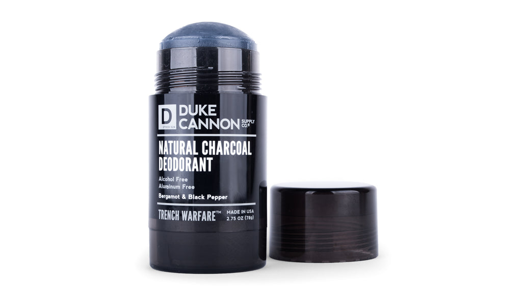Trench Warfare Natural Charcoal Deodorant (Bergamot & Black Pepper) - Duke Cannon