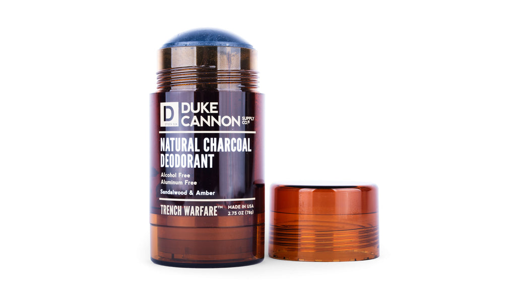 Trench Warfare Natural Charcoal Deodorant (Sandalwood & Amber) - Duke Cannon